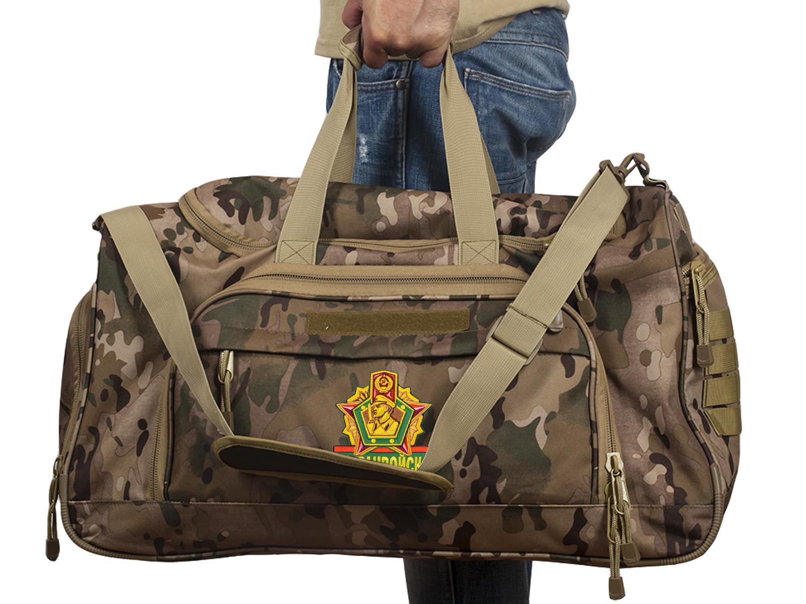 Купить тревожную армейскую сумку 08032B Погранвойска в нашем Военпро оптом выгодно