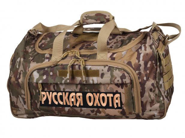 Тревожная полевая сумка 08032B с нашивкой Русская Охота - купить онлайн