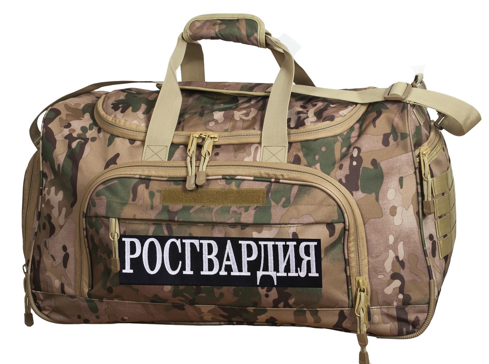 Тревожная сумка 08032B Multicam с нашивкой Росгвардия