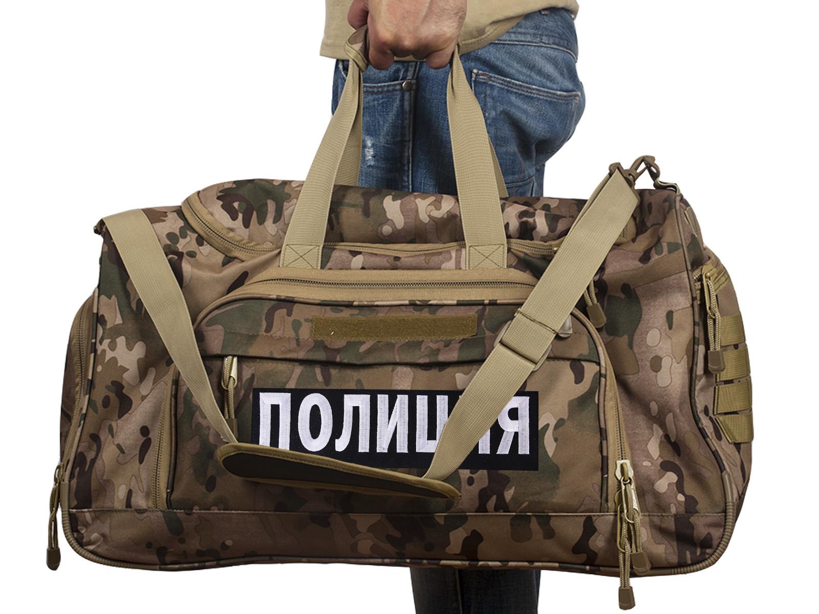 Купить тревожную сумку 08032B с нашивкой Полиция по лучшей цене
