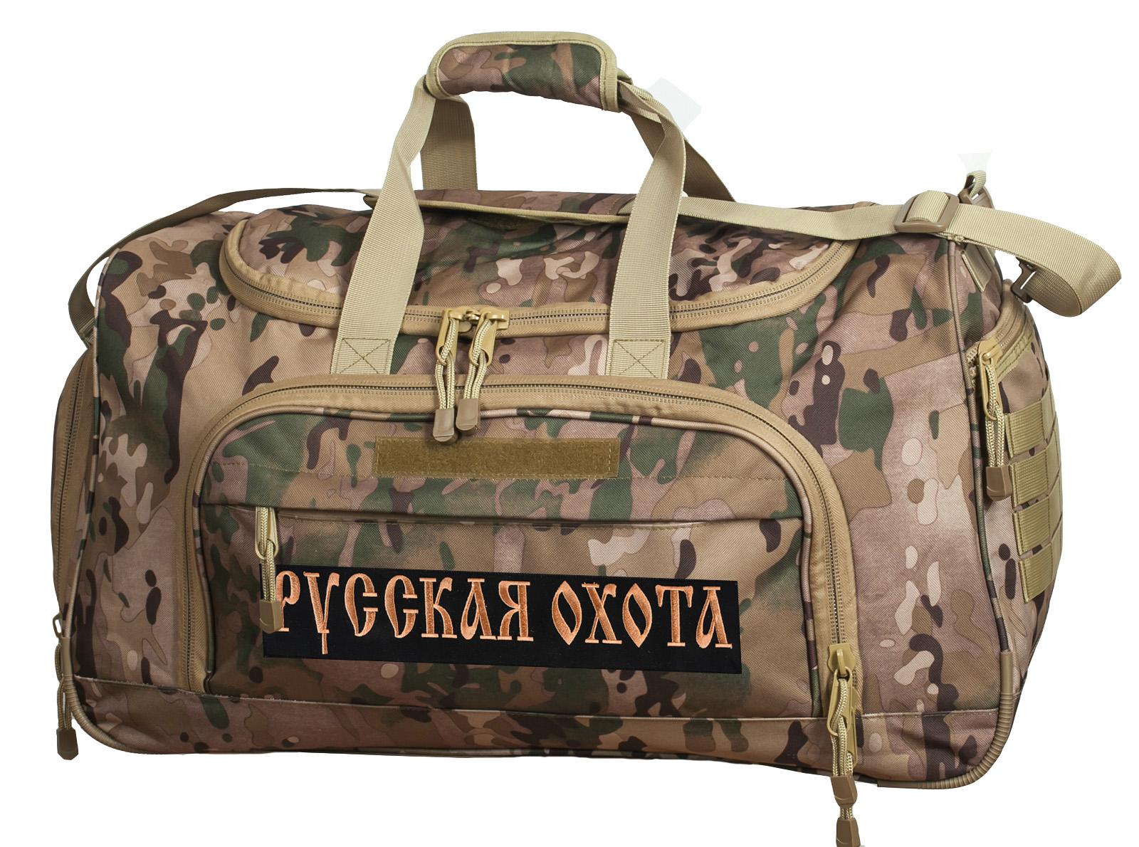 Тревожная сумка 08032B с нашивкой Русская Охота - заказать онлайн