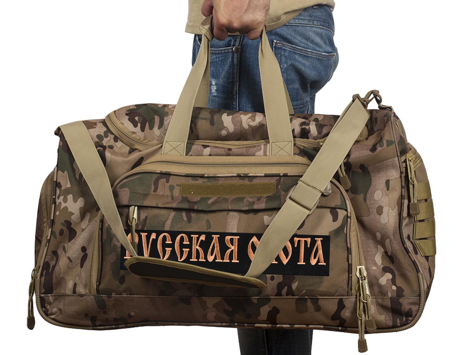 Купить тревожную сумку 08032B с нашивкой Русская Охота онлайн с доставкой
