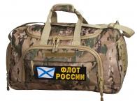 Тревожная сумка с нашивкой Флот России 08032B Multicam