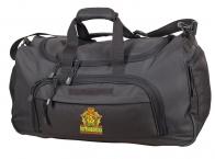 Тревожная темно-серая сумка 08032B с нашивкой Погранвойска