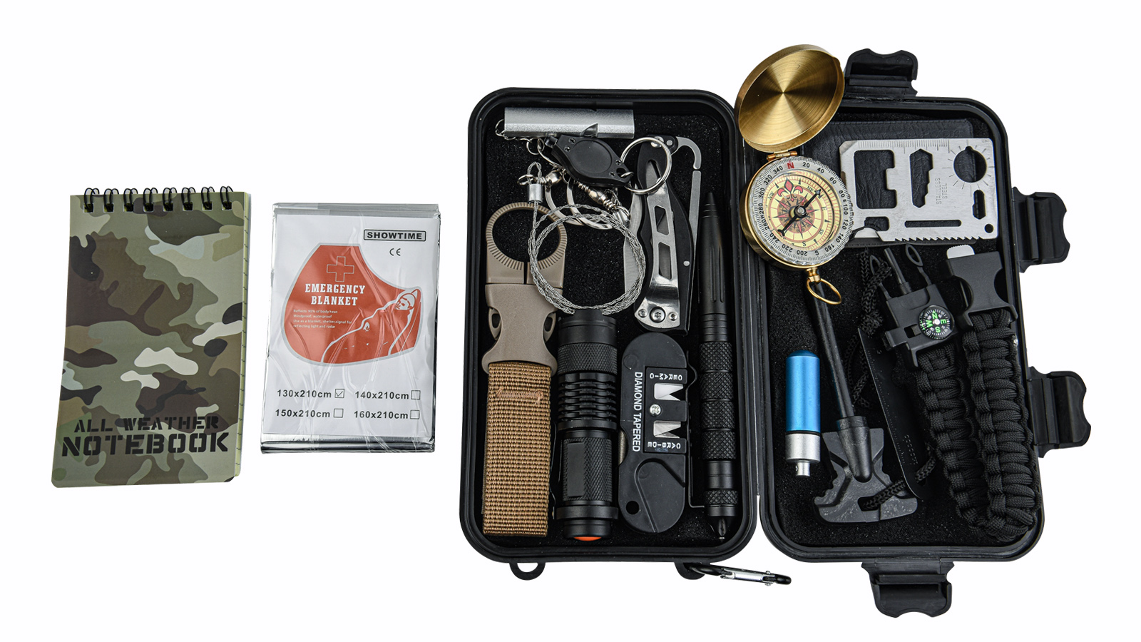 Тревожный чемоданчик выживания 16-в-1 (H1)