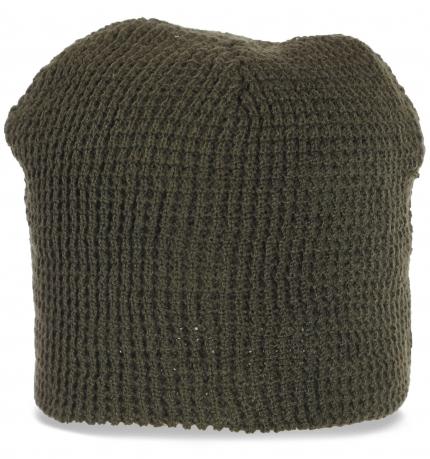 Трикотажная ажурная шапка бини. Молодежная востребованная модель, особенно если Вы любите спорт и активный образ жизни