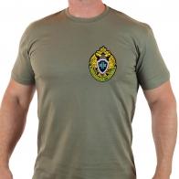 Трикотажная футболка хаки с нашивкой Пограничная служба