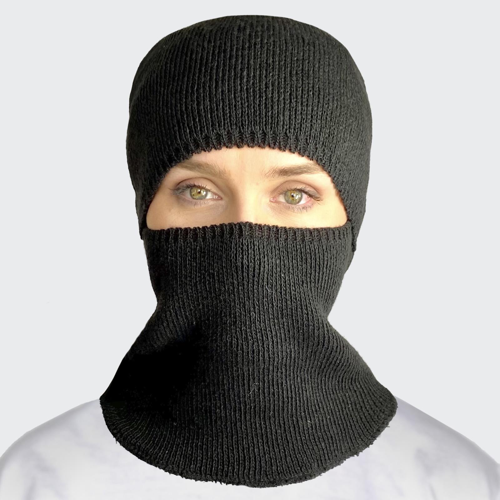 Вязаная маска подшлемник