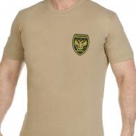 Трикотажная мужская футболка с вышитым шевроном Охотничьи Войска