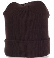 Трикотажная мужская шапка с отворотом. Отменная ежедневная защита от непогоды в Ваш гардероб. Количество ограничено!