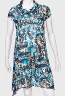 Трикотажное ассиметричное платье MINKAS