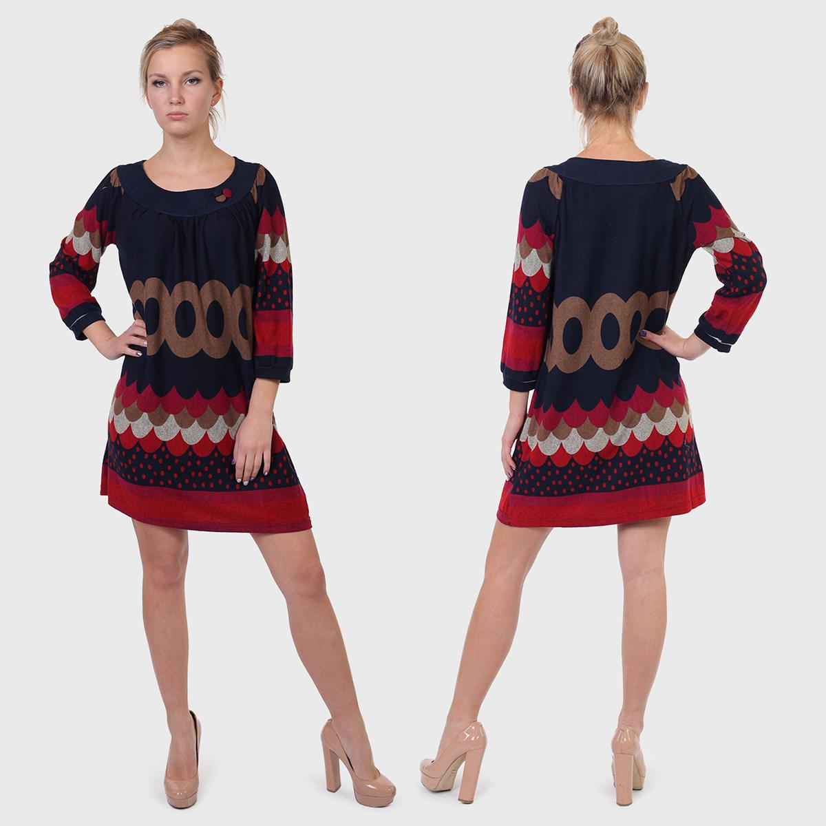 Трикотажное ЭТНО платье Carling.