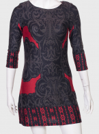 Трикотажное платье с рукавом три четверти