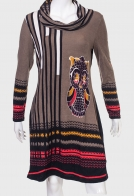 """Трикотажное платье с воротником """"хомут"""" от Le Grenier"""