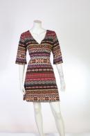 Трикотажное жаккардовое платье от ANGIE.