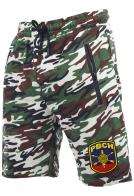 Трикотажные камуфляжные шорты с нашивкой РВСН