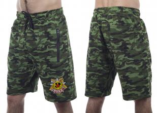 Трикотажные милитари шорты с карманами и нашивкой РХБЗ - купить с доставкой