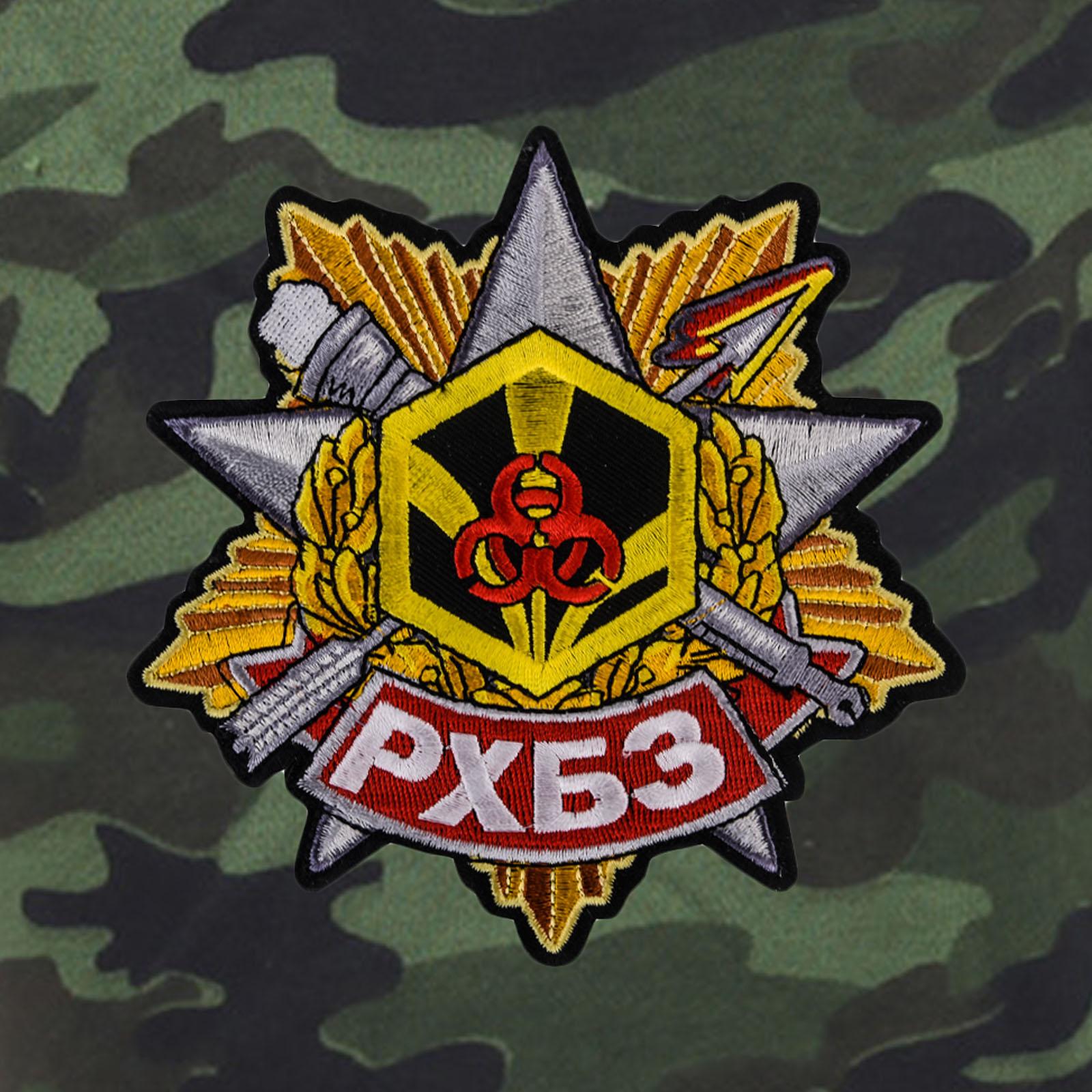 Трикотажные милитари шорты с карманами и нашивкой РХБЗ