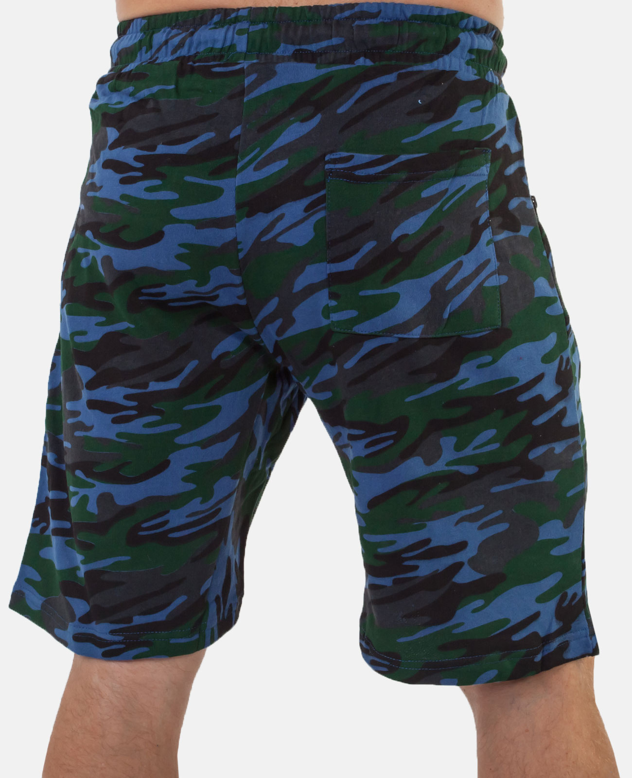 Заказать трикотажные мужские шорты с эмблемой Охотничьих войск