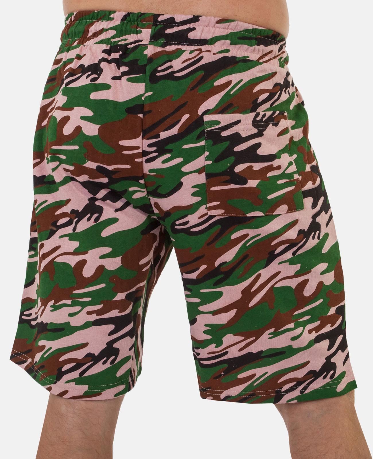 Купить трикотажные мужские шорты с нашивкой Потомственный казак по привлекательной цене