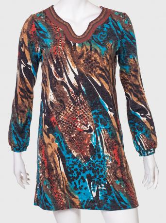 Трикотажное платье-трапеция