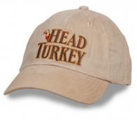 Светлая кепка с вышивкой Head Turkey