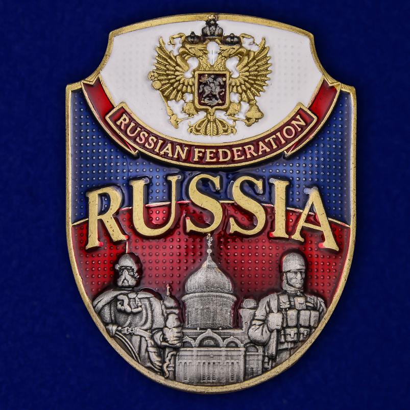 """Цветная металлическая накладка """"Russia"""""""