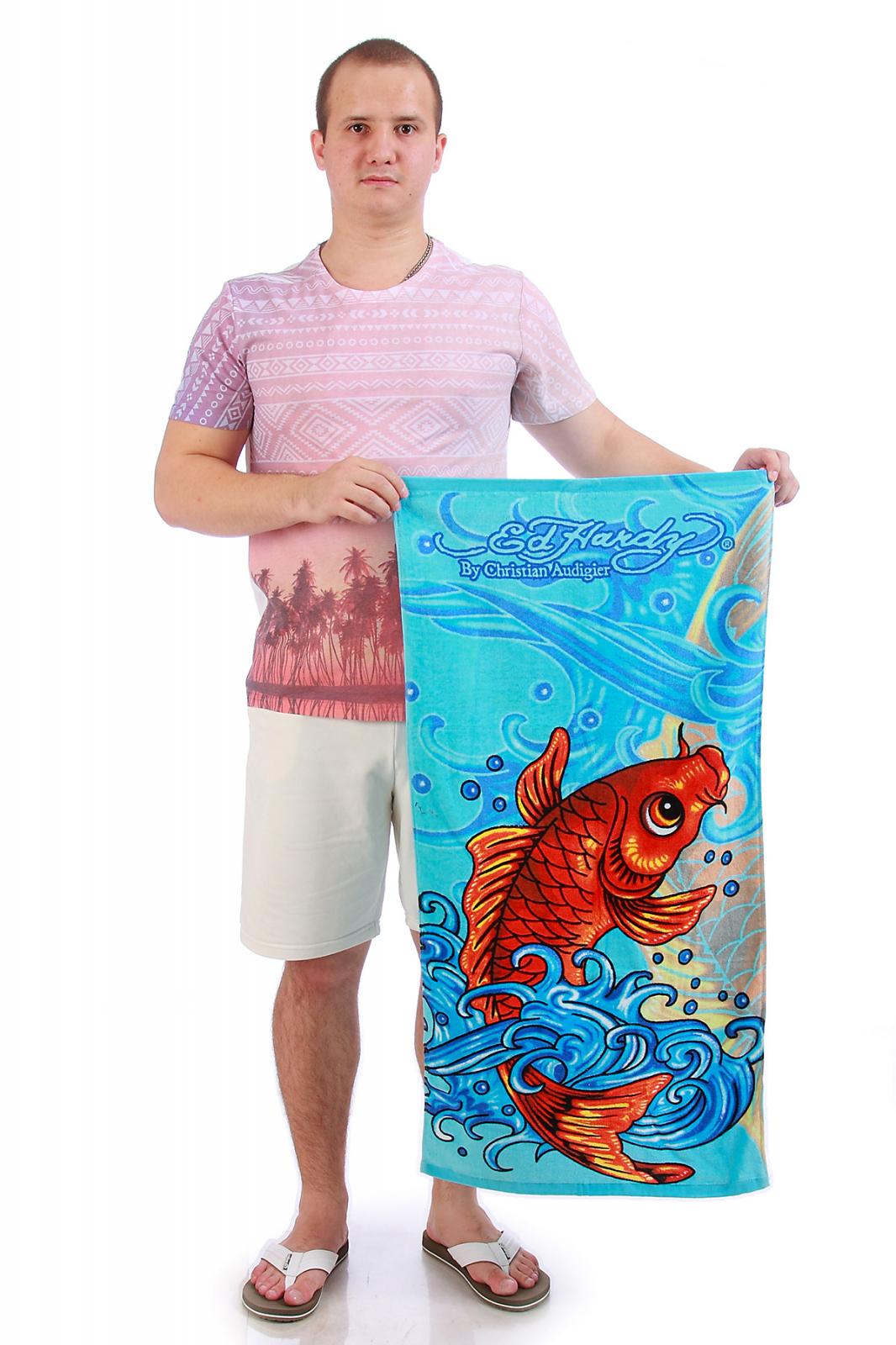 Цветное полотенце с рисунком - купить онлайн в интернет-магазине
