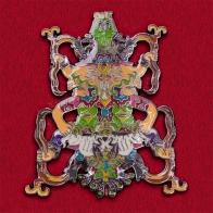 Цветной психоделический значок для любителей эпохи хиппи
