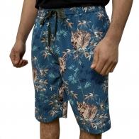 Цветные мужские бордшорты с волками от Septwolves