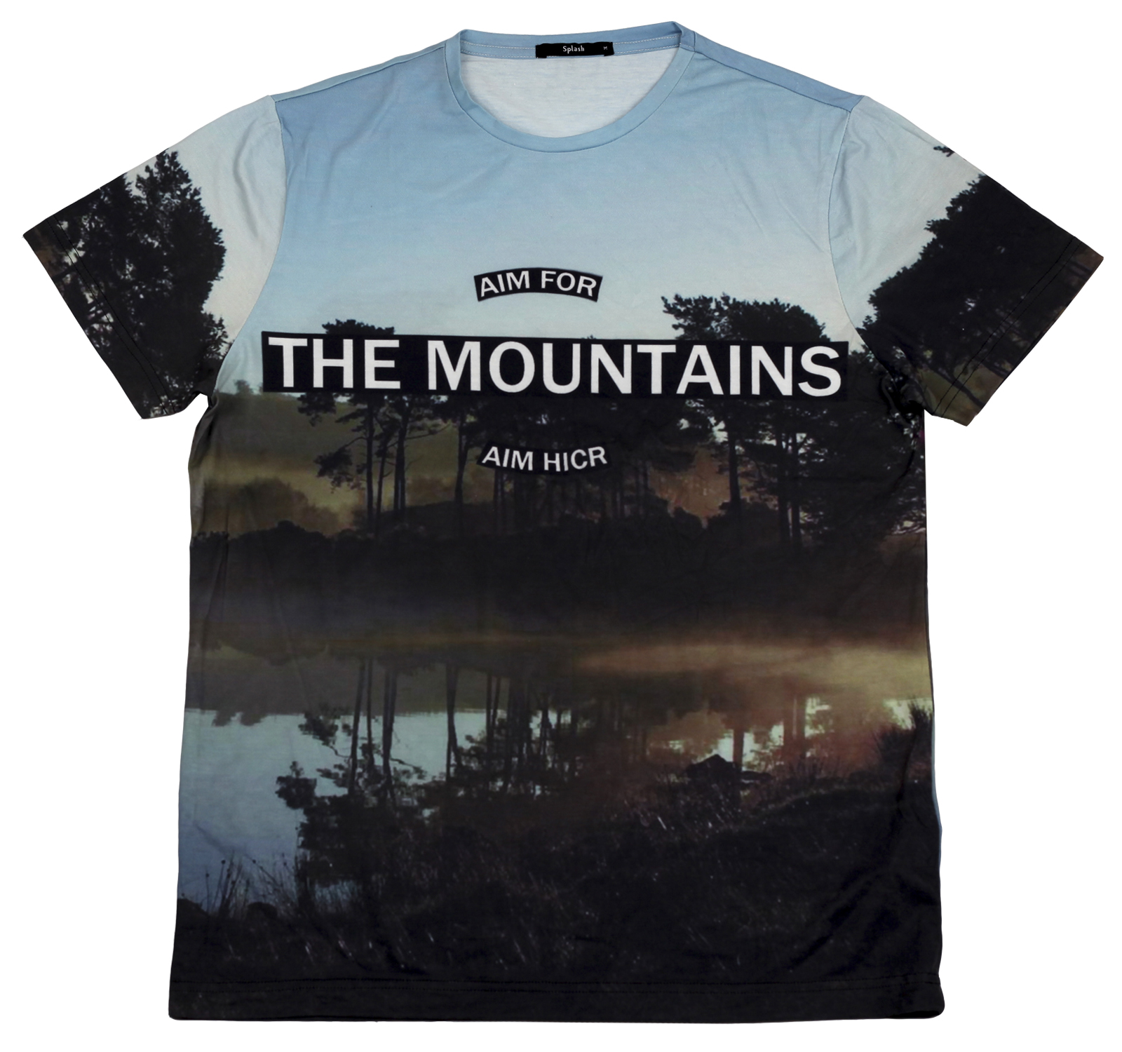 Туристическая футболка Splash из 100% хлопка