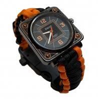 Туристические часы EMAK с браслетом из паракорда