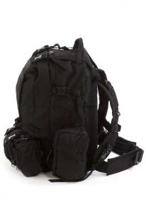 Туристический черный рюкзак с нашивкой Ни пуха, Ни пера! - заказать в подарок