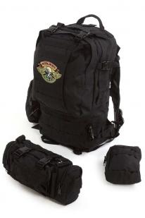 Туристический черный рюкзак с нашивкой Ни пуха, Ни пера! - купить выгодно