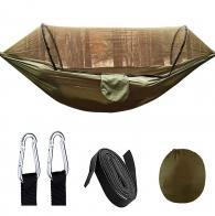 Туристический гамак с противомоскитной сеткой на 2 персоны (олива)