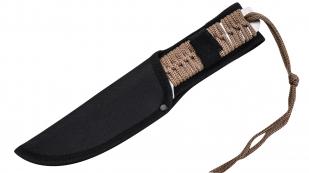 Туристический нож для выживания в чехле