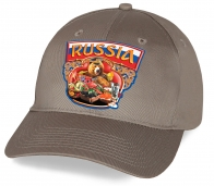 Ты до сих пор не приобрел русский сувенир? Тогда мы представляем – бейсболку с воодушевляющим принтом «Russia»  и Медведем играющем на балалайке. Лучшее качество по выгодной цене