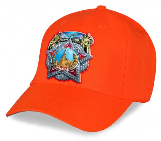 Стильная хлопковая кепка с принтом Ордена Победы