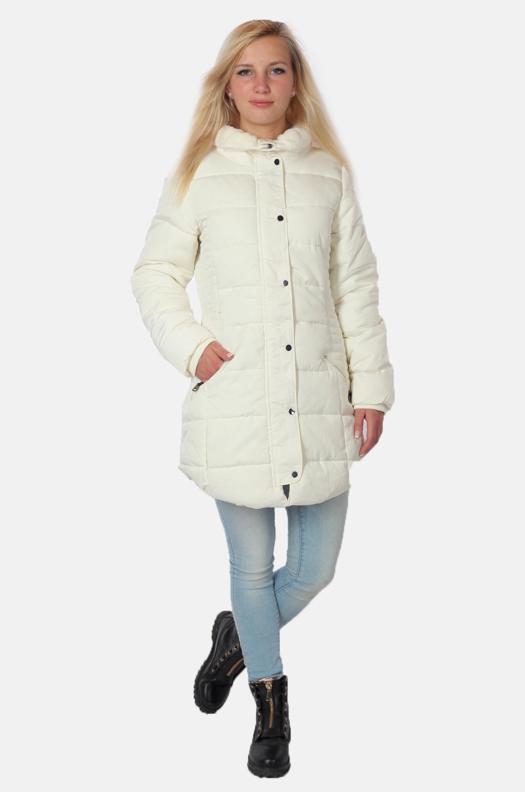 Оригинальная женская куртка белого цвета