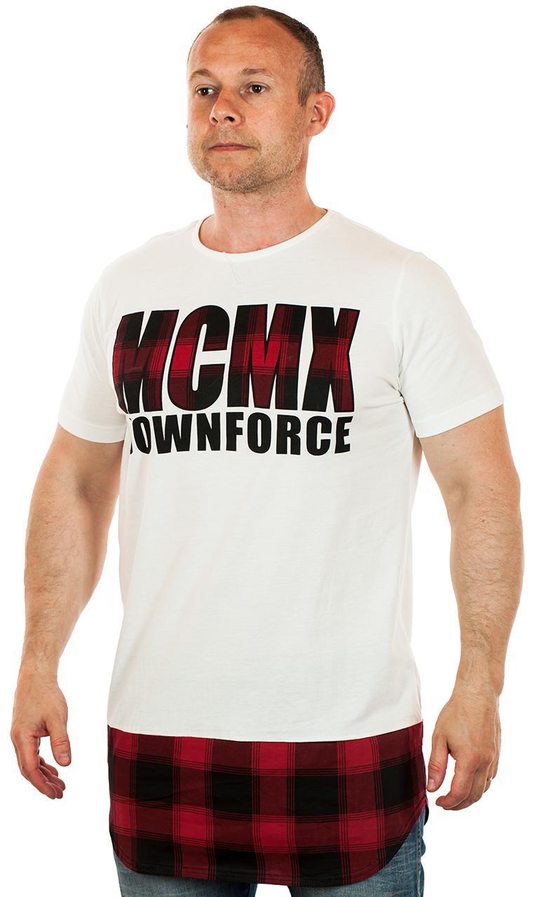Удлиненная футболка с ярким принтом
