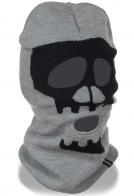 Удлиненная высококачественная трикотажная балаклава с рисунком черепа