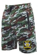 Удлиненные армейские шорты с карманами и нашивкой Флот России