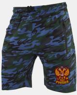 Удлиненные армейские шорты с нашивкой Россия