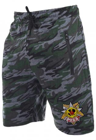 Удлиненные камуфлированные шорты с нашивкой РХБЗ