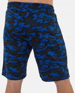 Удлиненные камуфляжные шорты с нашивкой ФСО - заказать в розницу