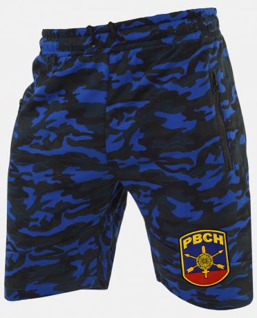 Удлиненные камуфляжные шорты с нашивкой РВСН