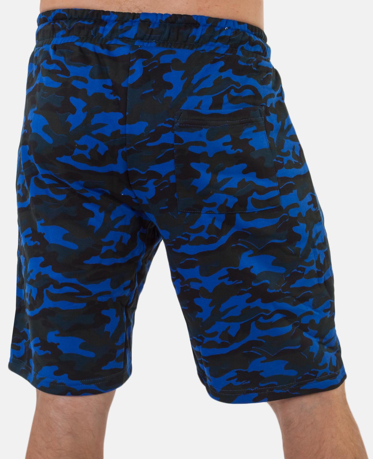 Удлиненные камуфляжные шорты с нашивкой РВСН - купить онлайн