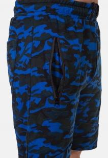 Удлиненные камуфляжные шорты с нашивкой РВСН - купить оптом