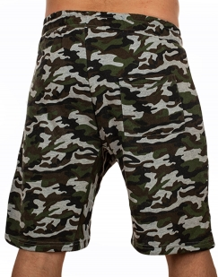 Удлиненные камуфляжные шорты с нашивкой ВКС - заказать онлайн