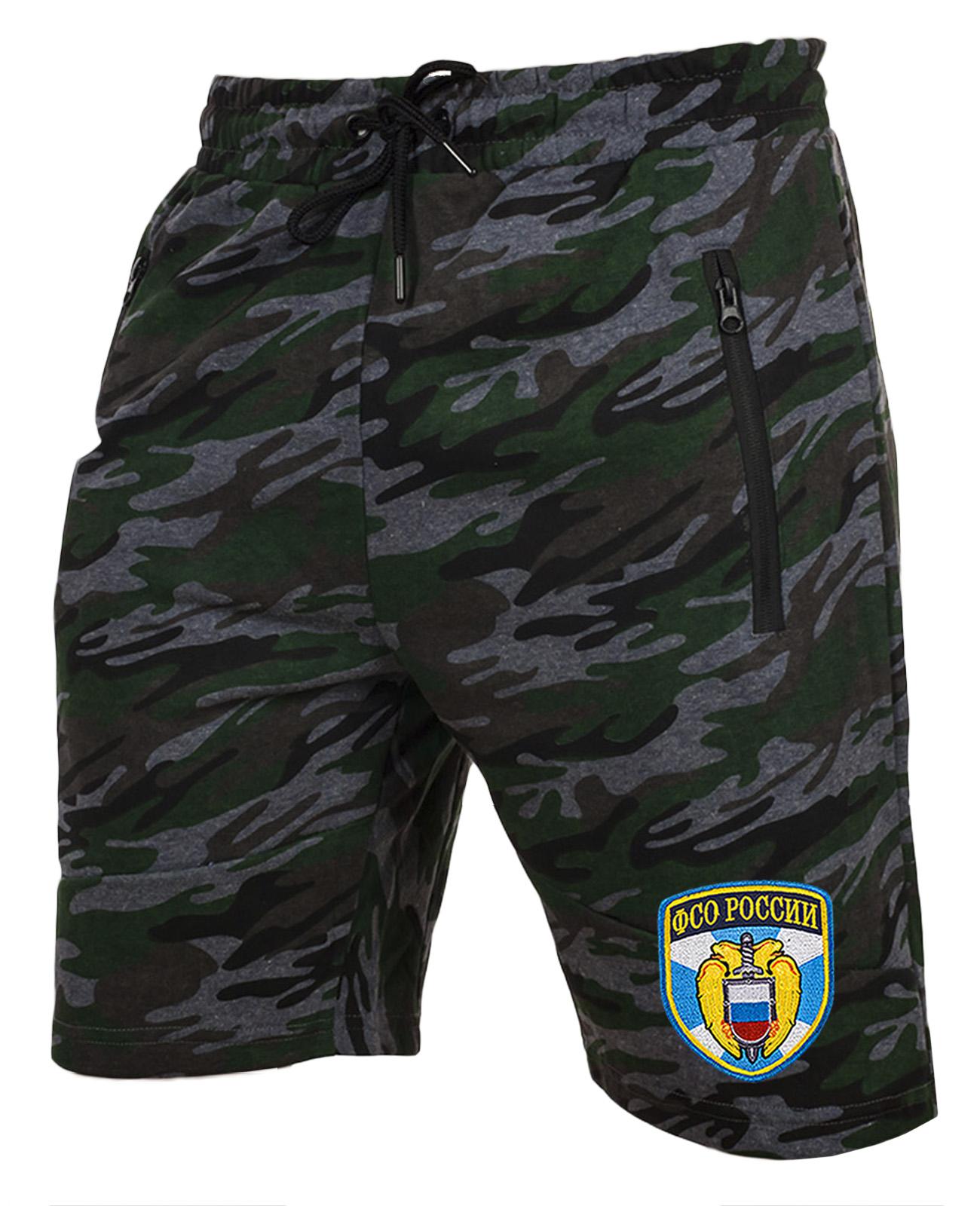 Удлиненные крутые шорты с нашивкой ФСО